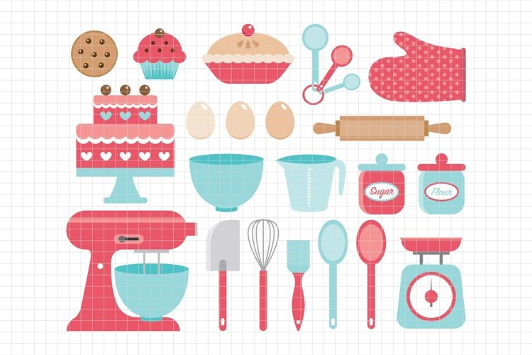 Baking Utensils-Digital Clipart LES.CL11 example image 1