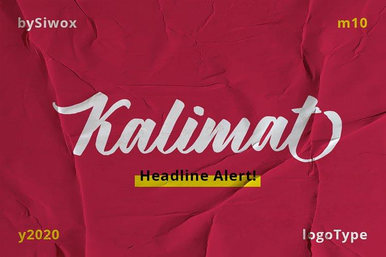 New!!! Kalimat - Logotype Font! example image 1