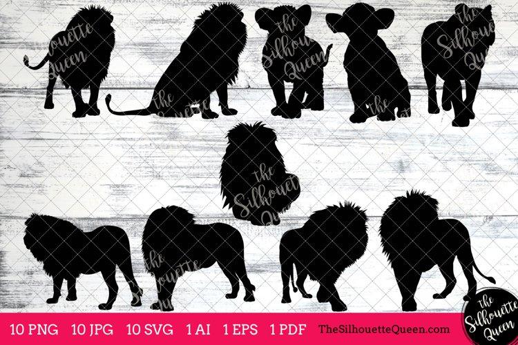 Lion Silhouette Clipart Clip Art(AI, EPS, SVGs, JPGs, PNGs, PDF), Lion  Clip Art Clipart Vectors - Commercial   Personal Use