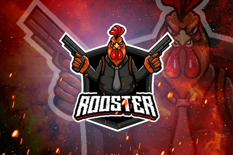 Rooster gaming logo example image 1