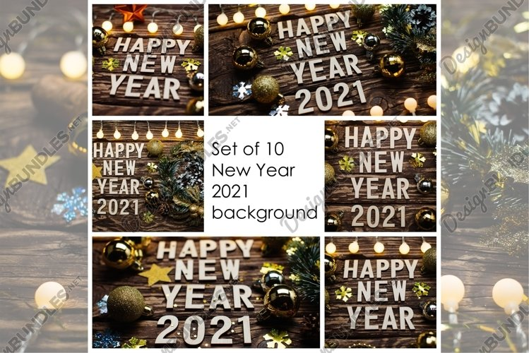 New Year 2021 background on wooden example image 1