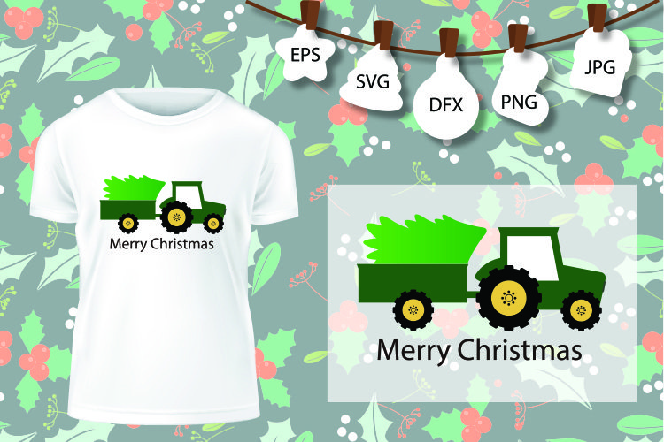 Christmas Truck SVG, Christmas Bug SVG, Christmas Tree example image 1