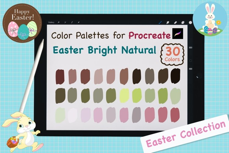 Color Palettes set for Procreate - Easter Bright Natural example image 1