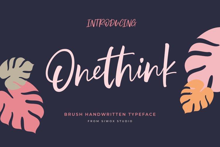 Onethink Lettering example image 1