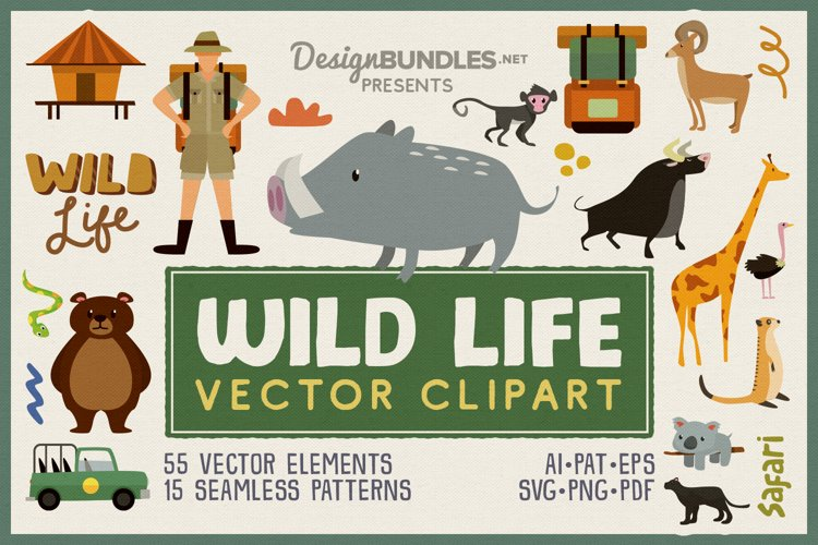 Wild Life Vector Clipart Pack