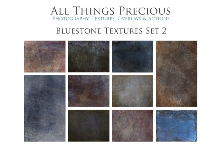 10 Fine Art Textures BLUESTONE - SET 2 example image 1