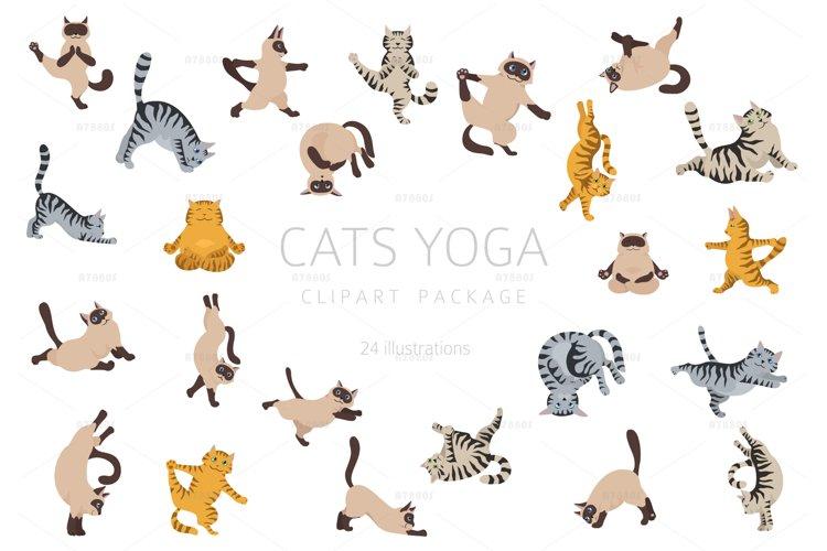 Cats yoga clipart