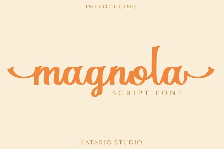 Magnola   Modern Script Web Font example image 1