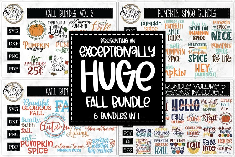 An Exceptionally Huge Fall Bundle | 6 Bundles In 1| 73 SVGs