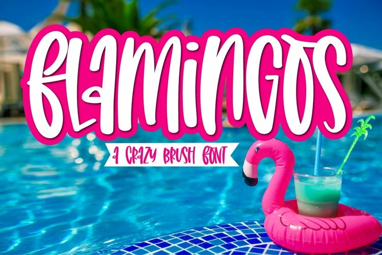 Web Font Flamingos - A Tall Brush Font example image 1