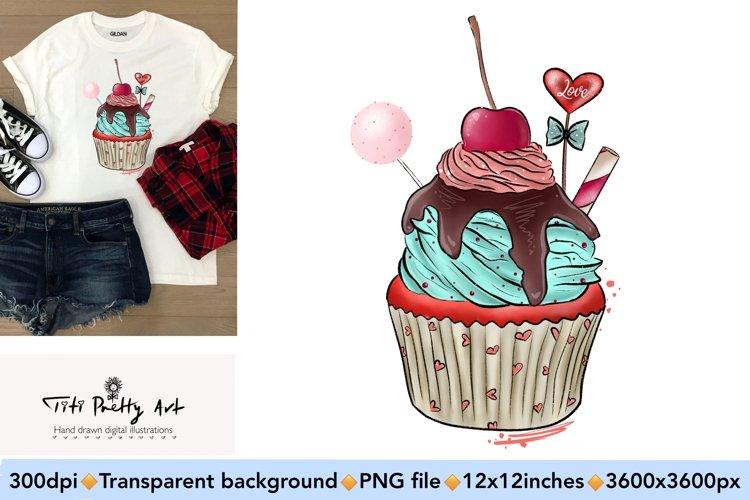 Muffin Sublimation Design PNG, Valentines Day Bundle