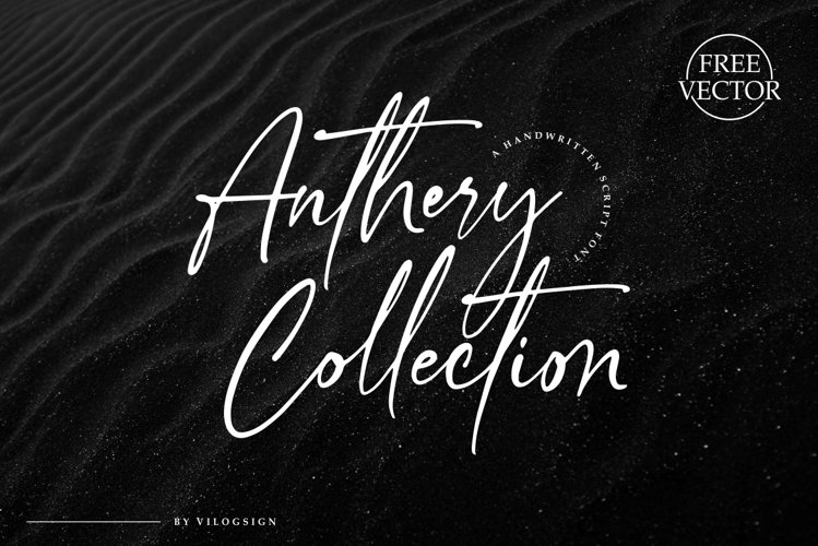 Anthery Collection a Handwritten Script Font example image 1