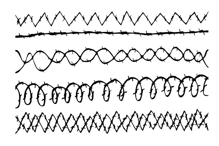 sketch of various horizontal Barbed Wire