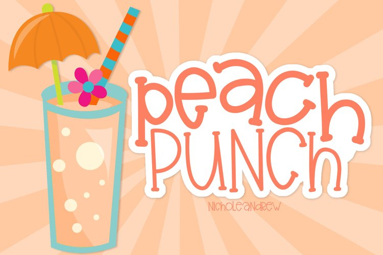 Peach Punch - A Fun Mixed Height Print Font example image 1