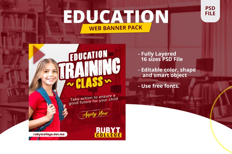 Education Banner Pack example image 1