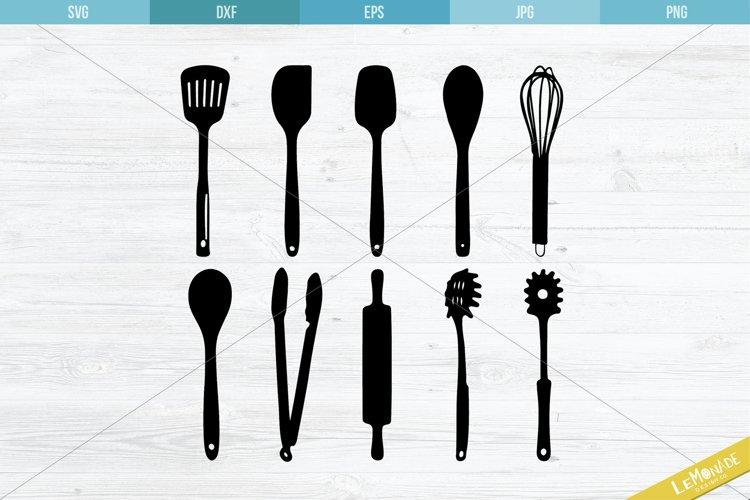 Kitchen Utensils SVG, Kitchen Tools Cutting Files