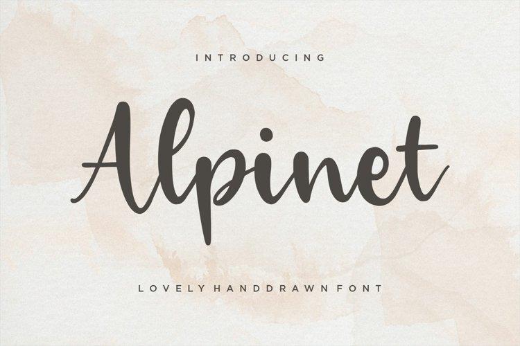 Alpinet Lovely Handwritten Font