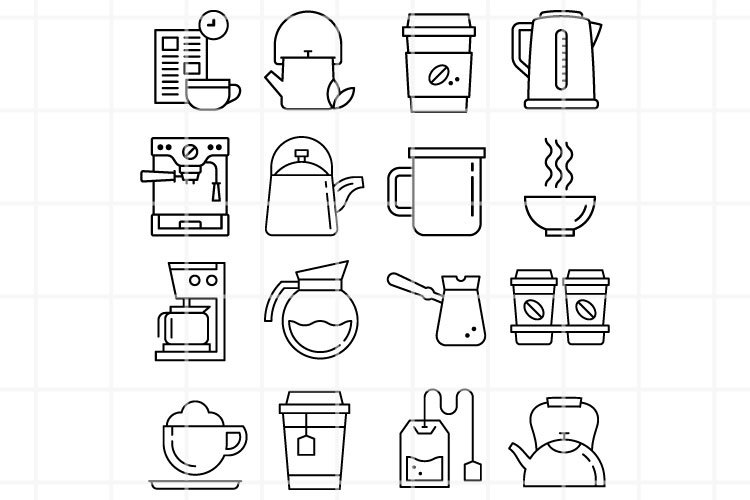 Coffee vector icon. Coffee illustration files. Hot drinks. example image 1