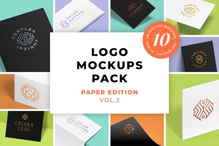 Logo Mockups Pack. Paper Edition. Vol. 2