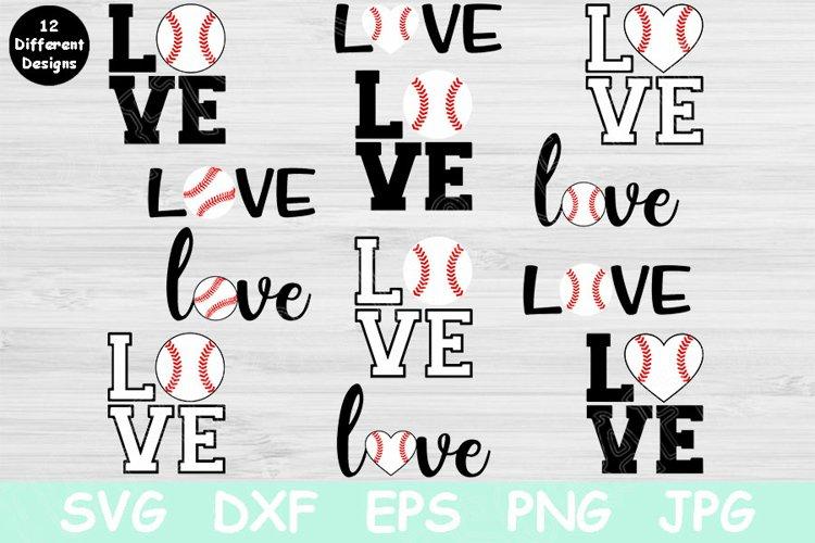 Love Baseball Svg Designs, Baseball Love Svg Files Cricut example image 1
