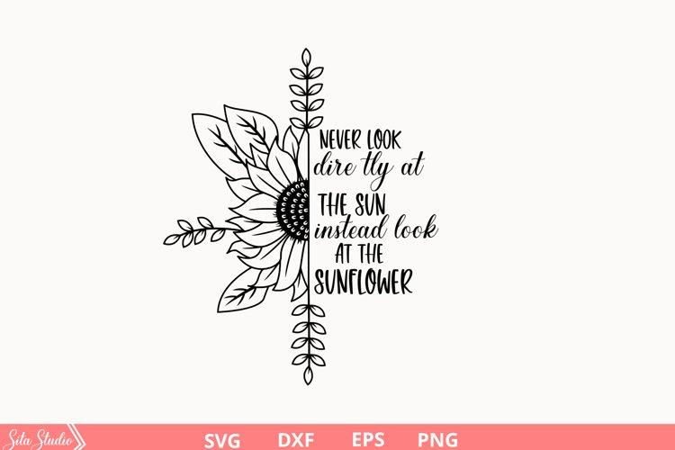 Half sunflower SVG Sunflower