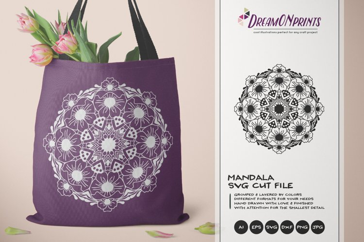 Mandala SVG Cut File | Floral Mandala example image 1