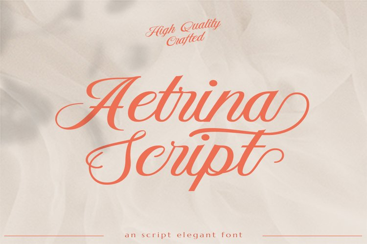 Aetrina Elegant Script Display example image 1