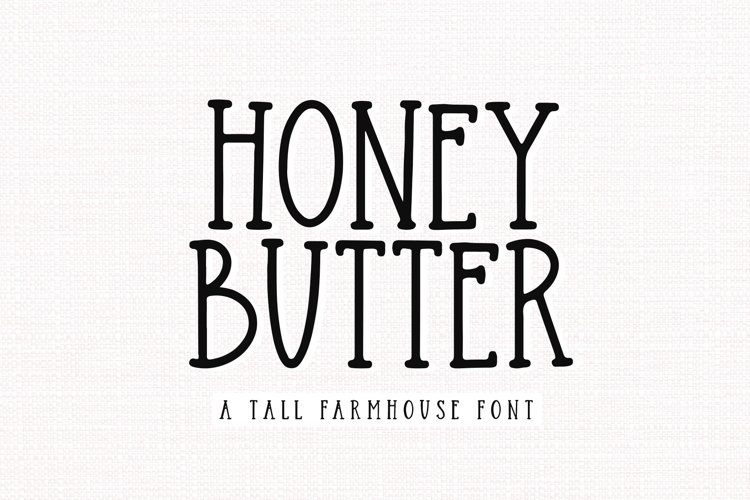 Honey Butter - A Farmhouse Font example image 1