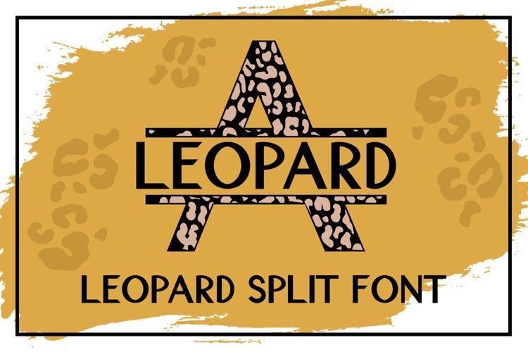 Leopard Split Font - A Monogram Font example image 1