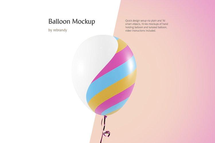 Balloon Mockup example image 1