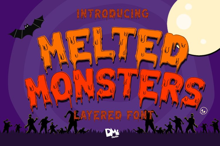 Melted Monster - Halloween Pack Layered Font example image 1