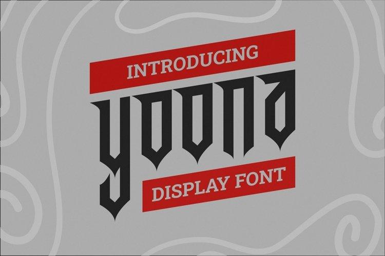 Web Font Yoona Font example image 1