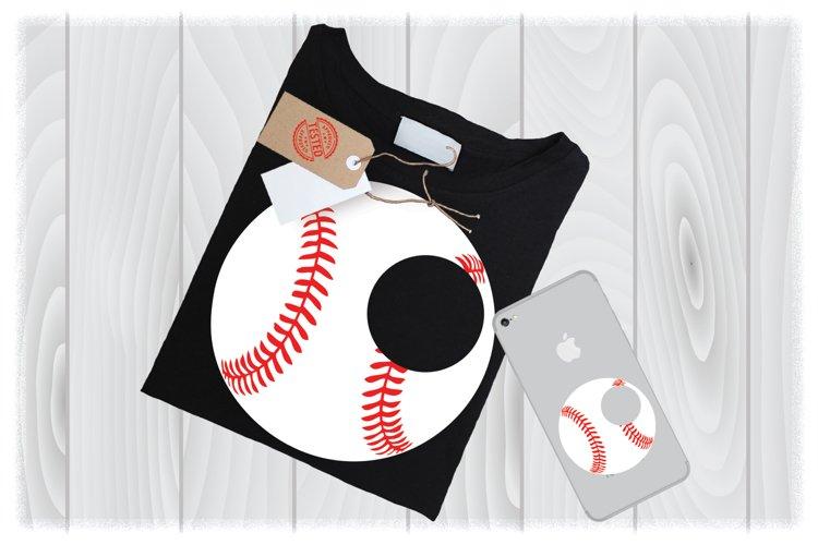 Baseball Monogram SVG Files For Cricut Designs | Sport SVG example image 1