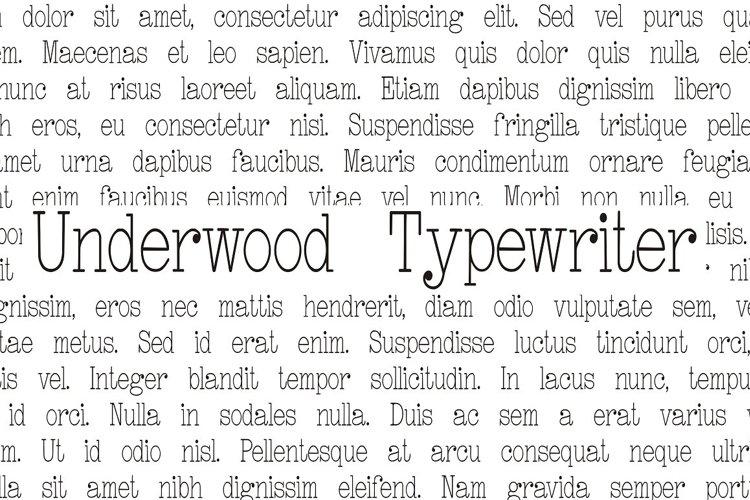 Underwood Typewriter - Free Font Of The Week Font