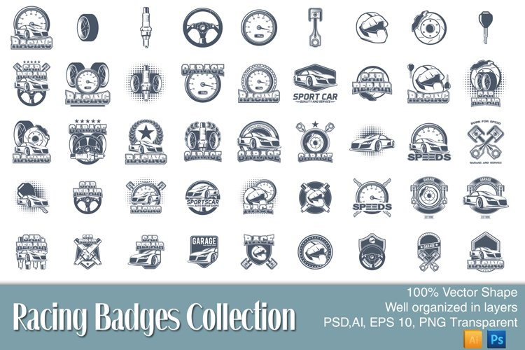 45 Racing badges collection example image 1