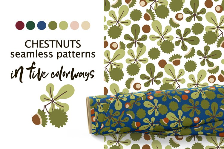 CHESTNUTS vector seamless patterns example image 1