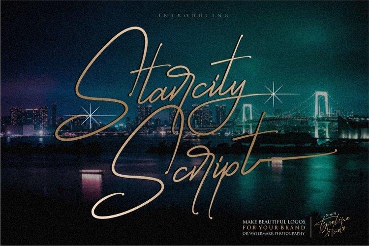Starcity Script // Signature Font example image 1