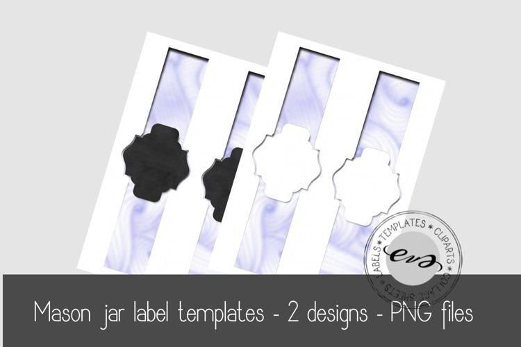 Digital Mason Jar label templates example image 1