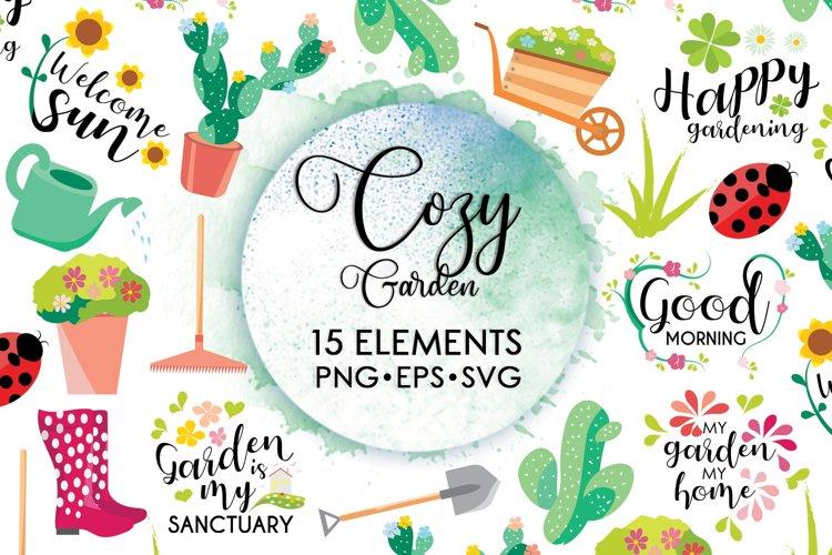 Flower Svg, Cactus Svg, Floral Svg, Ladybug Svg, Garden Svg example image 1