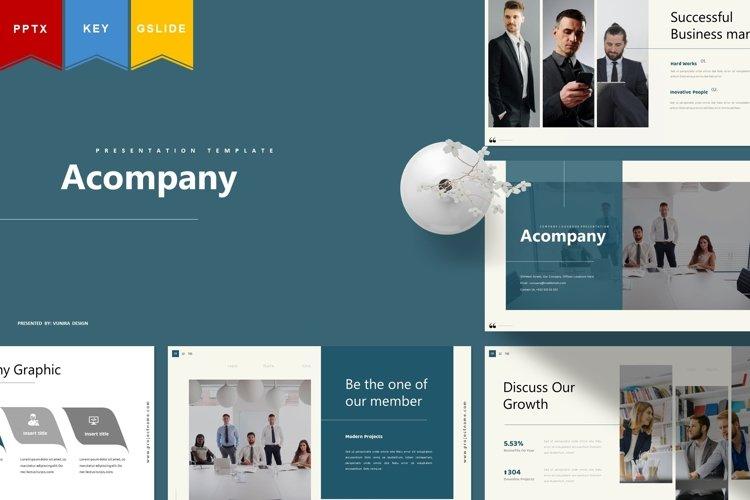 Acompany | Powerpoint, Keynote, GoogleSlides Template example image 1