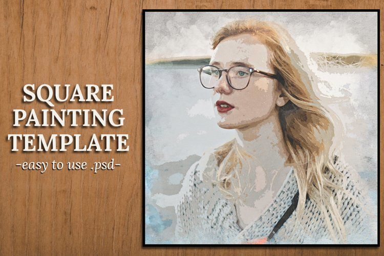 Square Painting Template example image 1