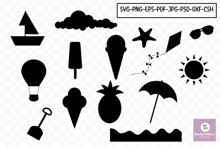 Beach SVG Shapes example image 1