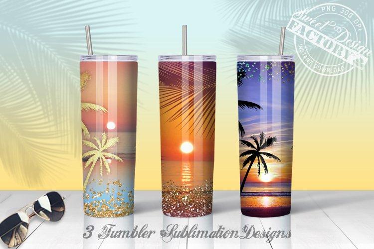 20 oz sunset tumbler Sublimation designs