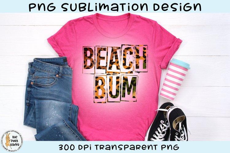Beach Bum Leopard Print Sublimation Design