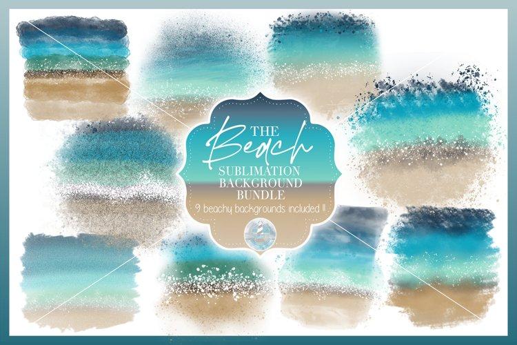 Beach Sublimation Backgrounds Bundle | 300 dpi PNG | Clipart