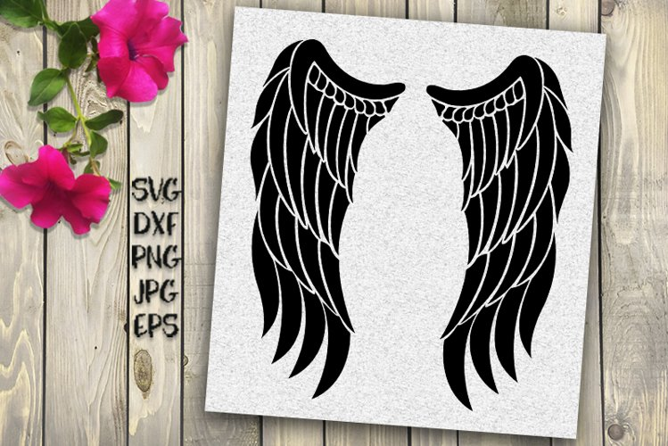 angel wings svg, angel svg, angel wings iron on, wings svg, example image 1