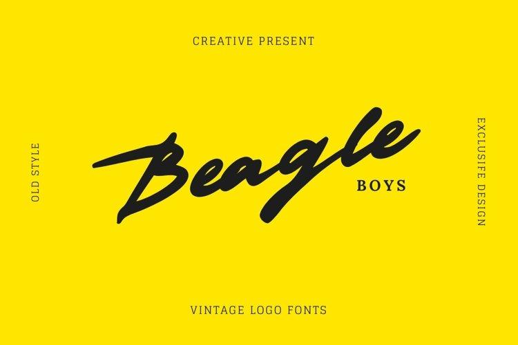 Web Font Beagleboys Font example image 1