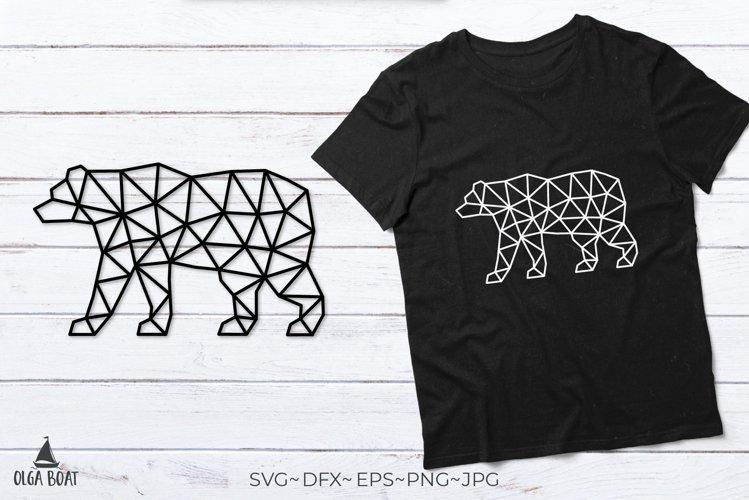 Bear svg Bear silhouette Black bear Geometric animals