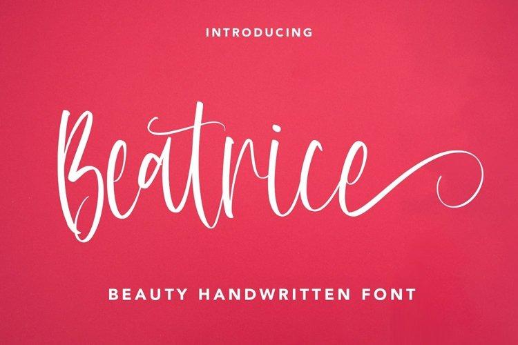 Web Font Beatrice - Beauty Handwritten Font