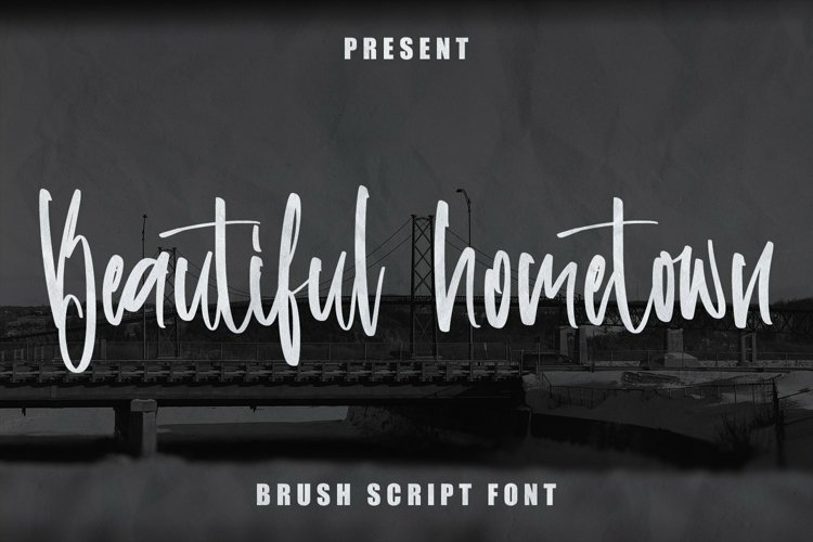 Web Font Beautiful Hometown - Brush Script Font example image 1